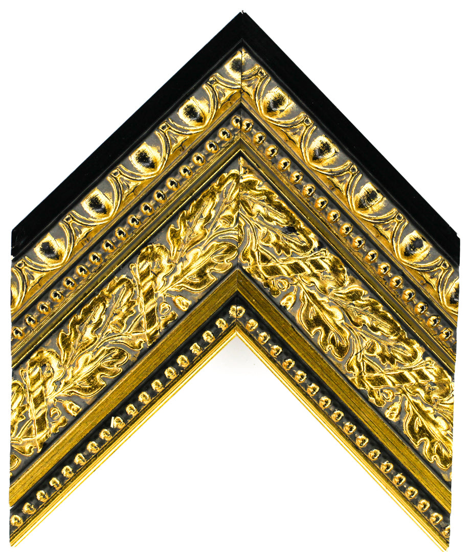 LARGE OPULENT GOLD & BLACK 4 1/4