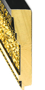 LARGE OPULENT GOLD & BLACK 4 1/4""