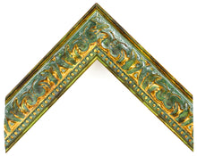 Load image into Gallery viewer, GREEN W/GOLD VINTAGE ORNATE 1 3/4""