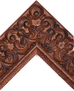 ORNATE BURNT WALNUT PALAZZO 4 1/2""