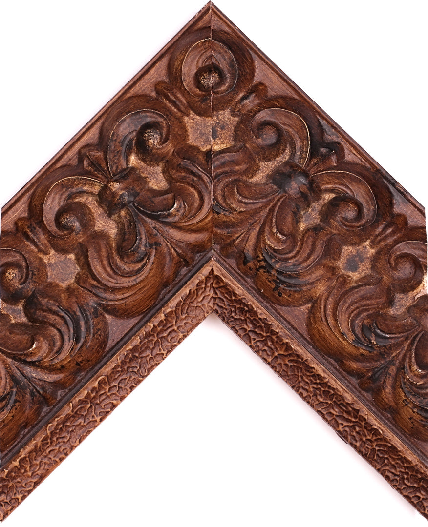 ORNATE BURNT WALNUT PALAZZO 4 1/2