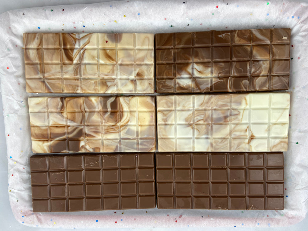 Marble Swirl Chocolate Bars- Brown and White