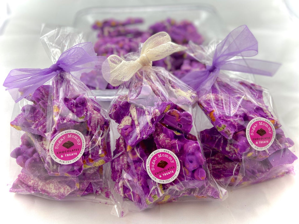 Purple Fruit Loop Bark - Chocolate Treat Bags