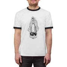 "Load image into Gallery viewer, KZMU ""Mother of All Broadcasts"" Unisex Ringer Tee"