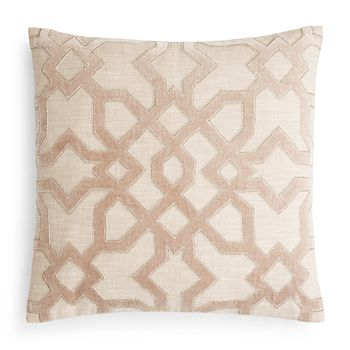 Hudson Park Collection Velvet Applique Decorative Pillow, 20 X 20