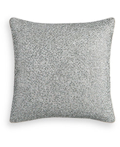 "Hotel Collection Dimensional Beaded 18"" Square Decorative Pillow"