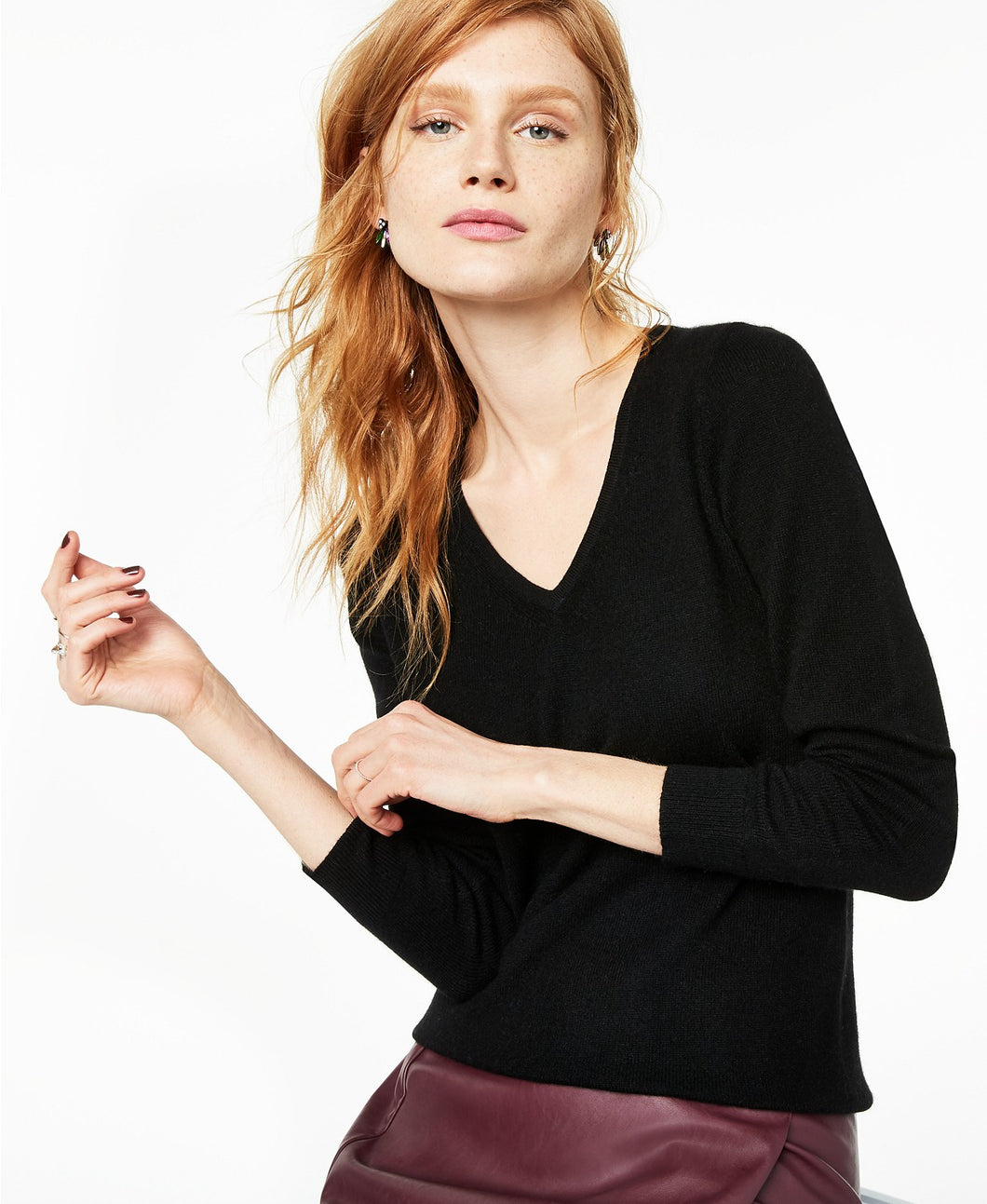 V-Neck Cashmere Sweater, Created for Macy's