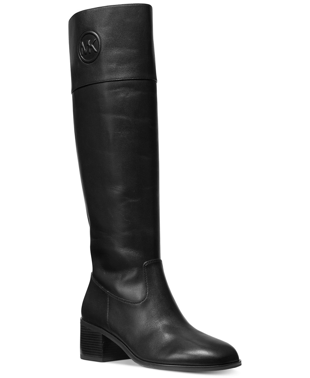MICHAEL KORS - Dylyn Black Leather High Boots