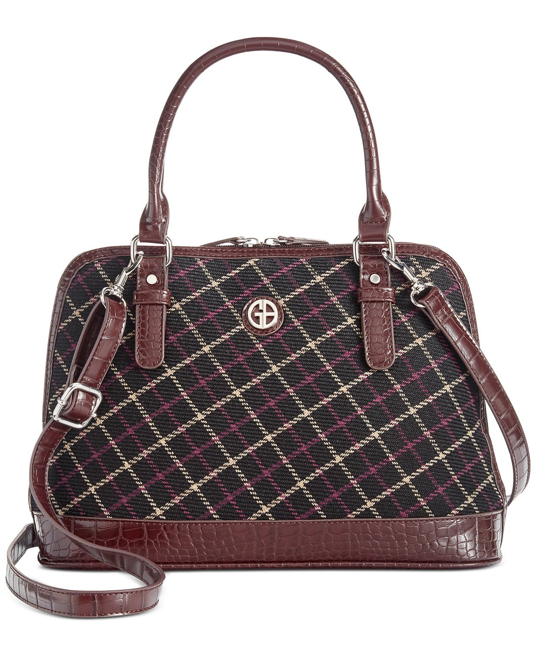 GIANI BERNINI - Plaid Croco Dome Satchel