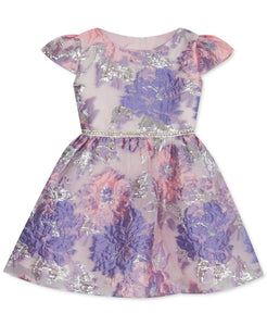 Rare Editions Toddler Girls Floral Burnout Dress