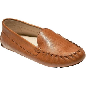 COLE HAAN - Women's Evelyn Driver Pecan Leather