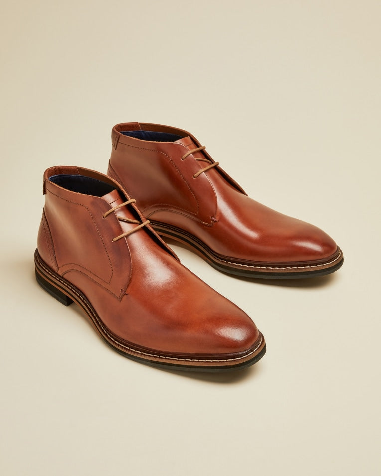 TED BAKER - Crint Leather Chukka Boots