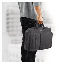 "Load image into Gallery viewer, Solo Urban Hybrid Briefcase, 5"" X 17.25"" X 17.24"", Polyester, Black"