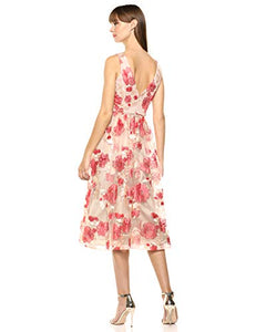 CALVIN KLEIN -  Sleeveless Embroidered Party Dress