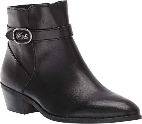COACH Dylan Horse and Carriage Bootie Black Leather