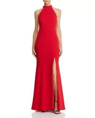 Red Crepe Gown