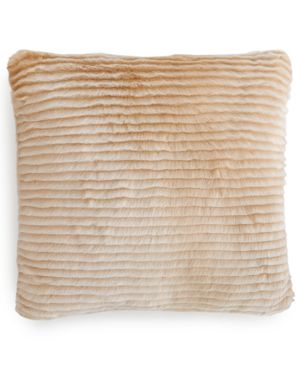 Charter Club Eyelash Stripe Faux-fur Decorative Pillow, Only at Macy's Bedding