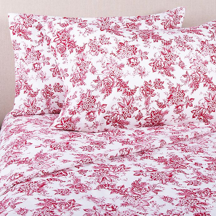 Home Floral Flannel King Sheet Set