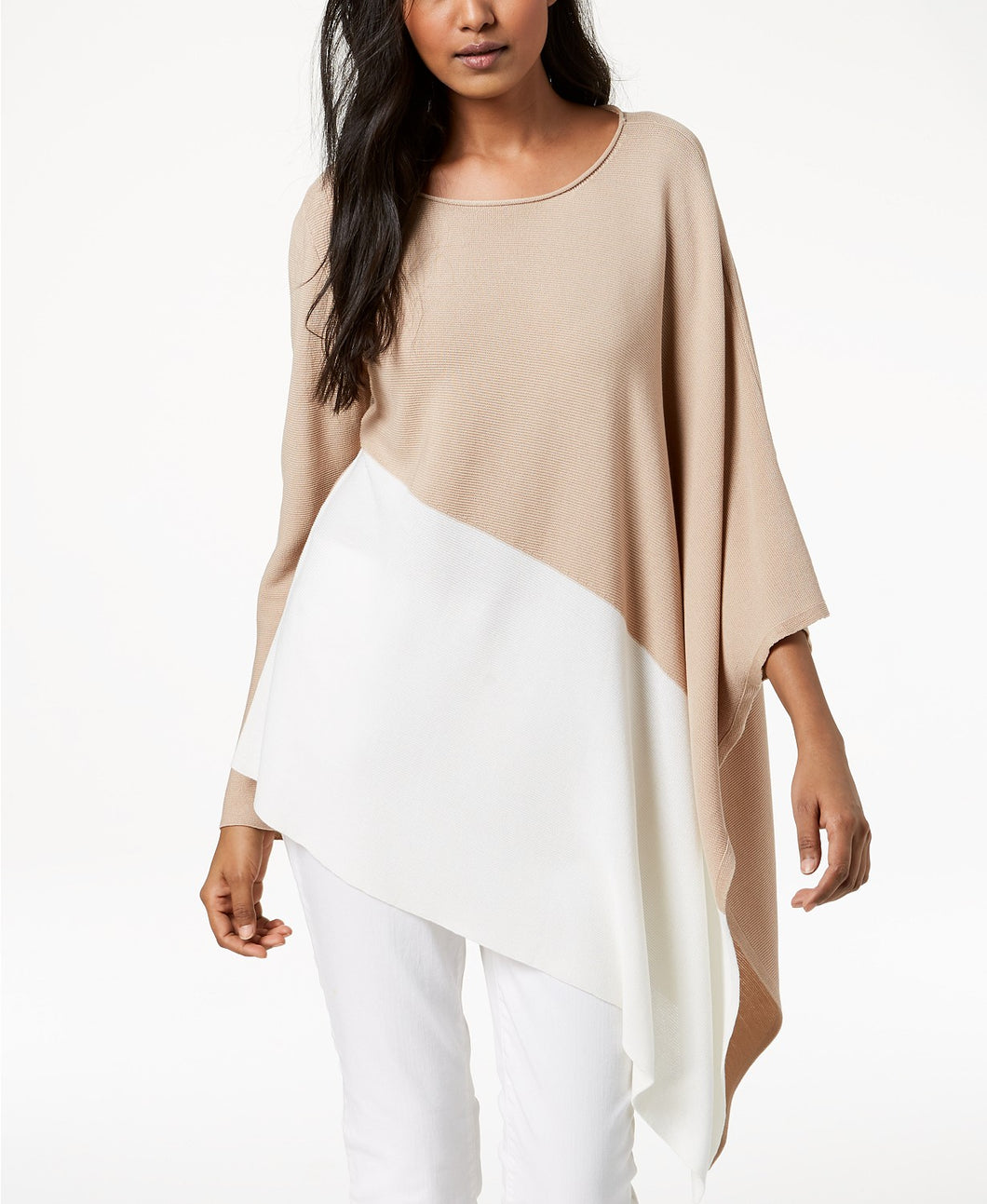 EILEEN FISHER - Color blocked Asymmetrical Sweater