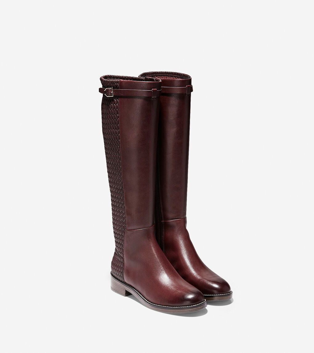 COLE HAAN - Women's Lexi Grand Stretch Strap Boot Mid Calf
