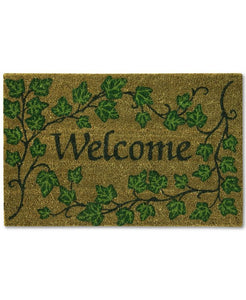 "Bacova English Ivy 18"" X 28"" Welcome Doormat Bedding"