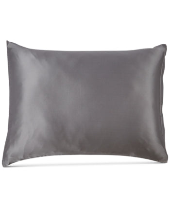 Silken Slumber Solid and Printed Silk Standard Pillowcase - Gray