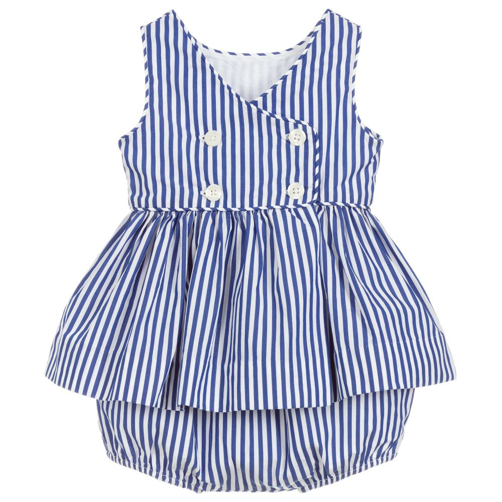 Polo Ralph Lauren Baby Girls Striped Cotton Top & Shorts Set