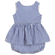Load image into Gallery viewer, Polo Ralph Lauren Baby Girls Striped Cotton Top & Shorts Set