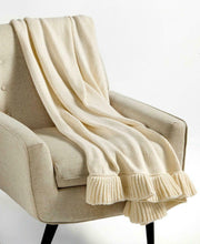 Load image into Gallery viewer, MARTHA STEWART - Ruffle Throw