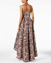 Load image into Gallery viewer, Floral Brocade High-Low Gown