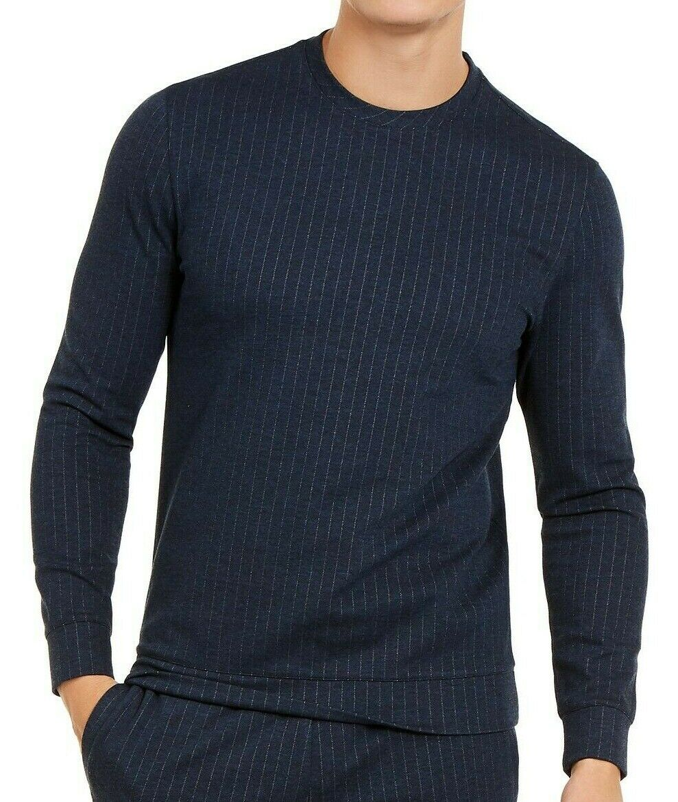 ALFANI -  Men's Pinstripe Stretch Crew Sweatshirt