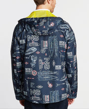 Load image into Gallery viewer, NAUTICA -  Full-Zip Graphic Print Hooded Windbreaker Jacket