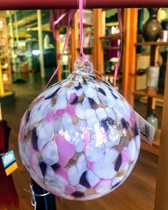 Hand Crafted Large Glass Friendship Ball Ornament