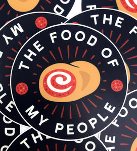 Food of My People - Pepperoni Roll Sticker
