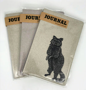Letterpress Critter Unlined Journals - 5x8