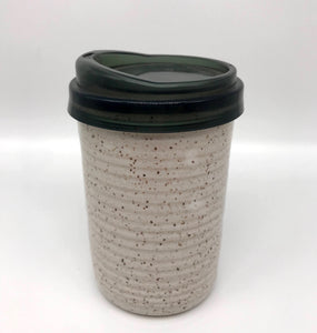 Hand Crafted Ceramic Speckled Clay Travel Mug