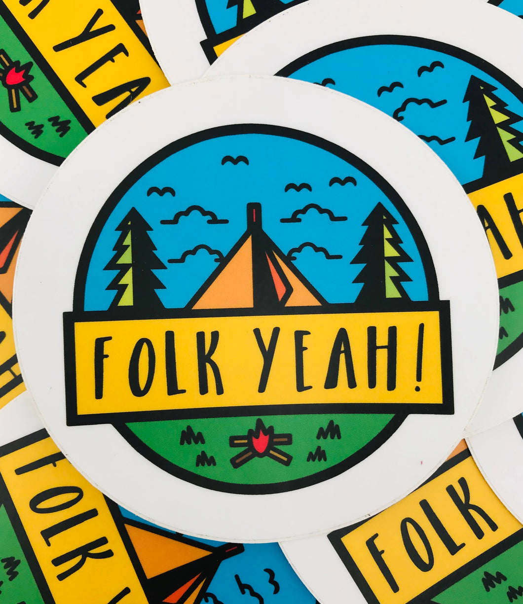 Folk Yeah Sticker