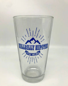 Hillbilly Hipster Pint Glass