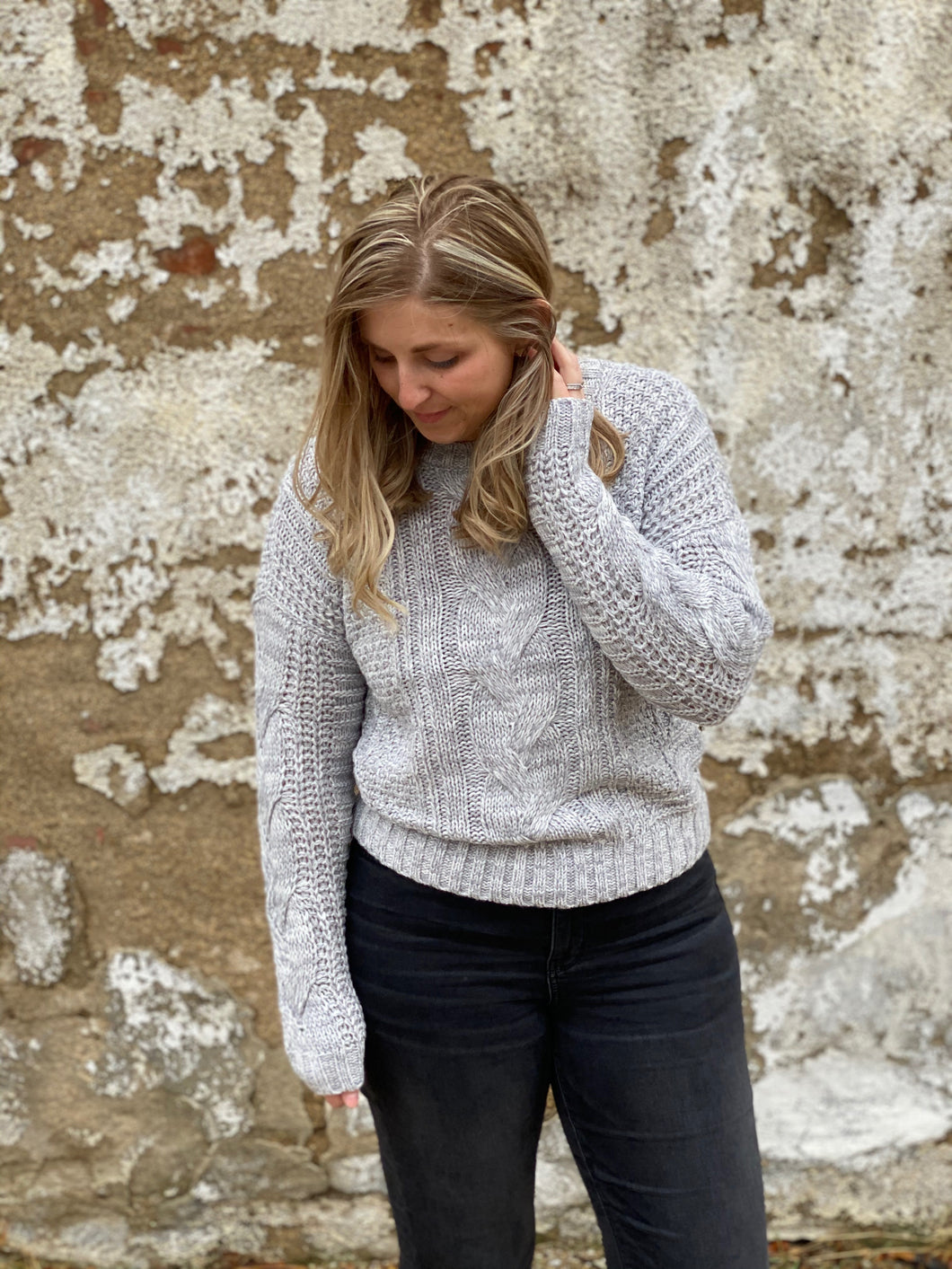 The Twisted Cable Knit Sweater