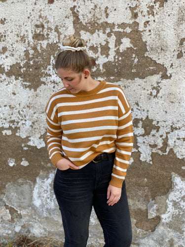 The Ivory & Camel Stripe Sweater