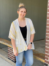 Load image into Gallery viewer, The Yellow Tie Dye Kimono