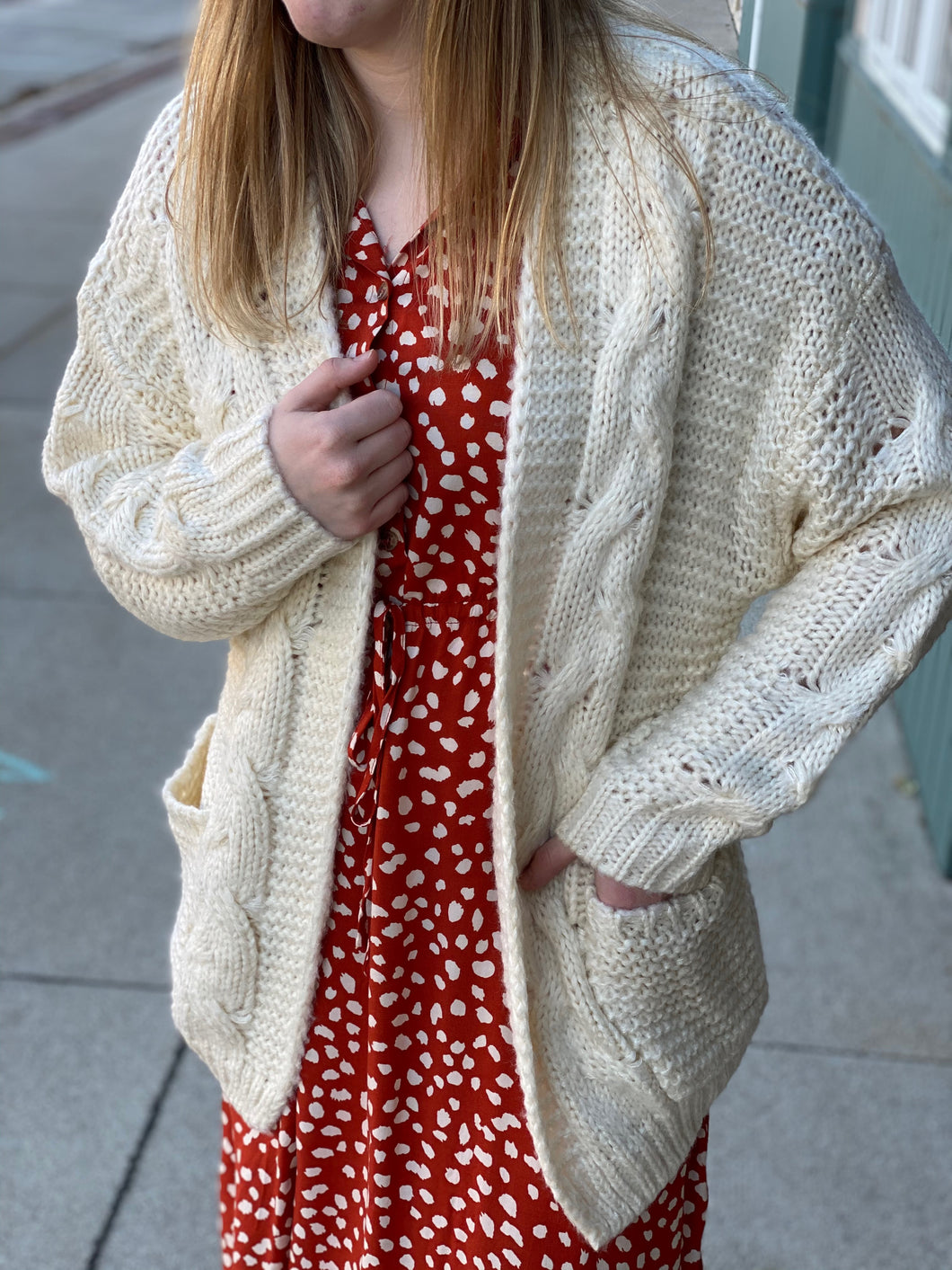 The Ivory Knit Cardigan
