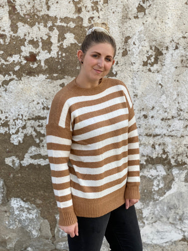 The Camel Stripe Sweater