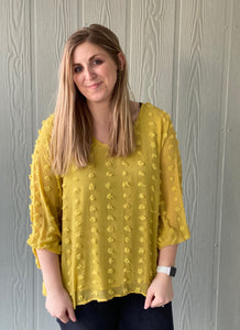 The Lime Dotted Blouse