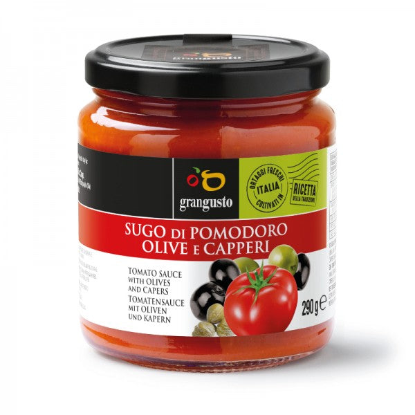 TOMATO PASTA SAUCE WITH OLIVES AND CAPERS - 290Gr