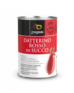 "RED ""DATTERINO"" TOMATO IN JUICE - 400Gr"