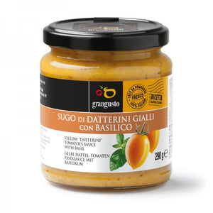 "YELLOW ""DATTERINO"" TOMATO PASTA SAUCE WITH BASIL  - 290Gr"