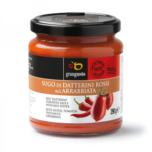 "RED ""DATTERINO"" TOMATO PASTA SAUCE ""ALL'ARRABBIATA""  - 290Gr"