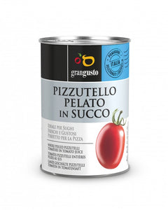 "WHOLE PEELED ""PIZZUTELLO"" TOMATOES IN JUICE - 400Gr"