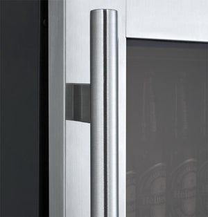 "Allavino 24"" Wide Black Cabinet and Stainless Steel Door - Accessories Essentials"